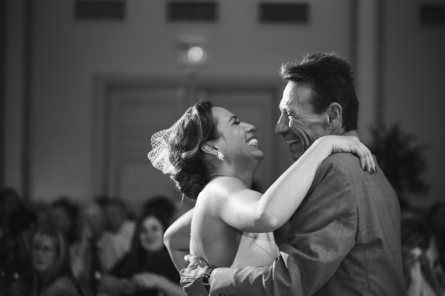 bride dancing with father at the westin great southern columbus