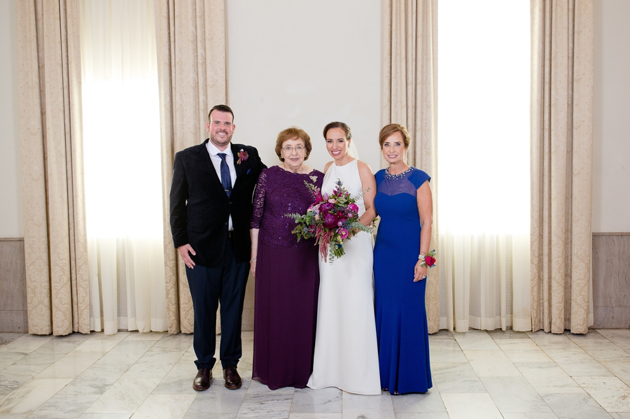 brides family photo at the westin great southern columbus