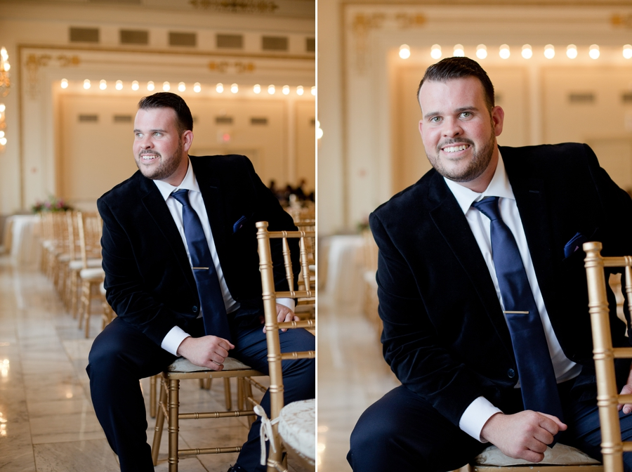 groom sitting inside the westin great southern