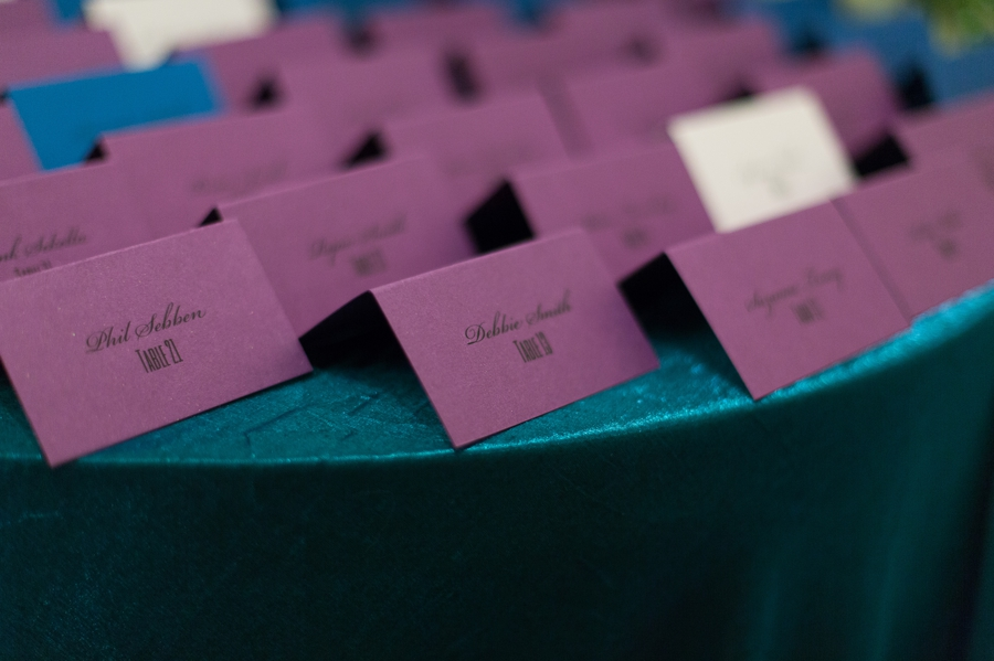 table seat settings cards
