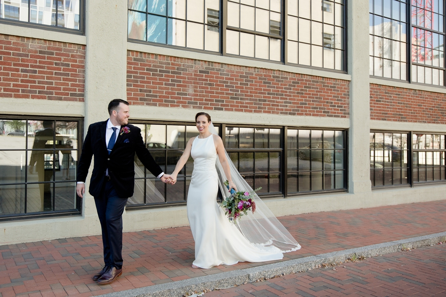 groom leading bride on a walk at the westin great southern