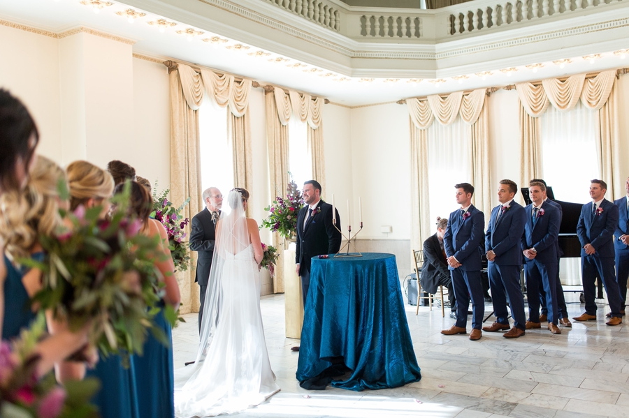 wide photo of ceremony inside the westin great southern