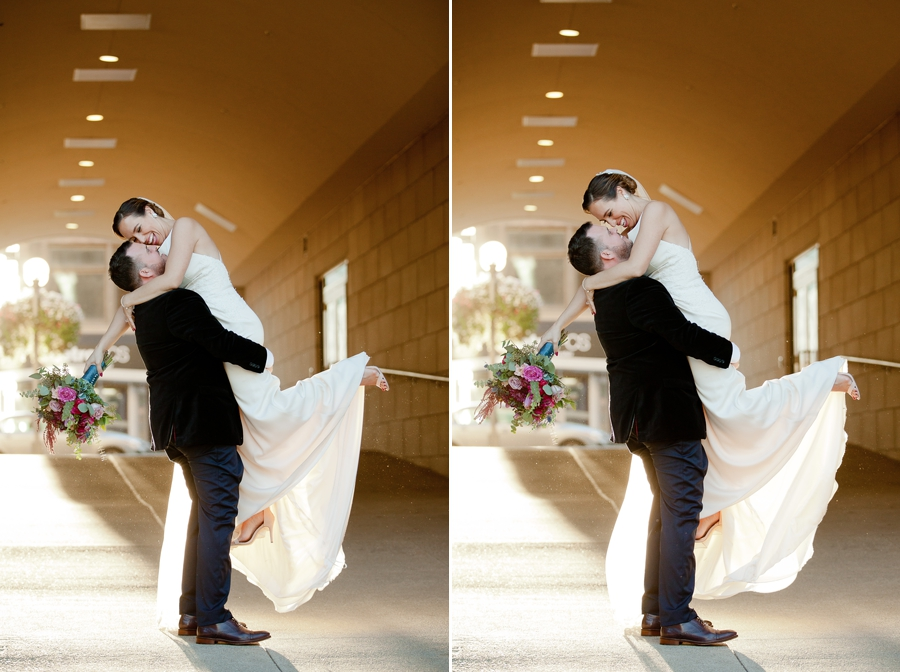 groom holding up bride at the westin great southern