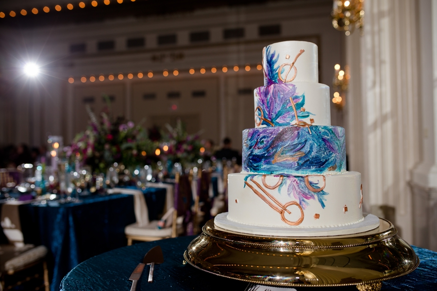 colorful wedding cake at the westin great southern