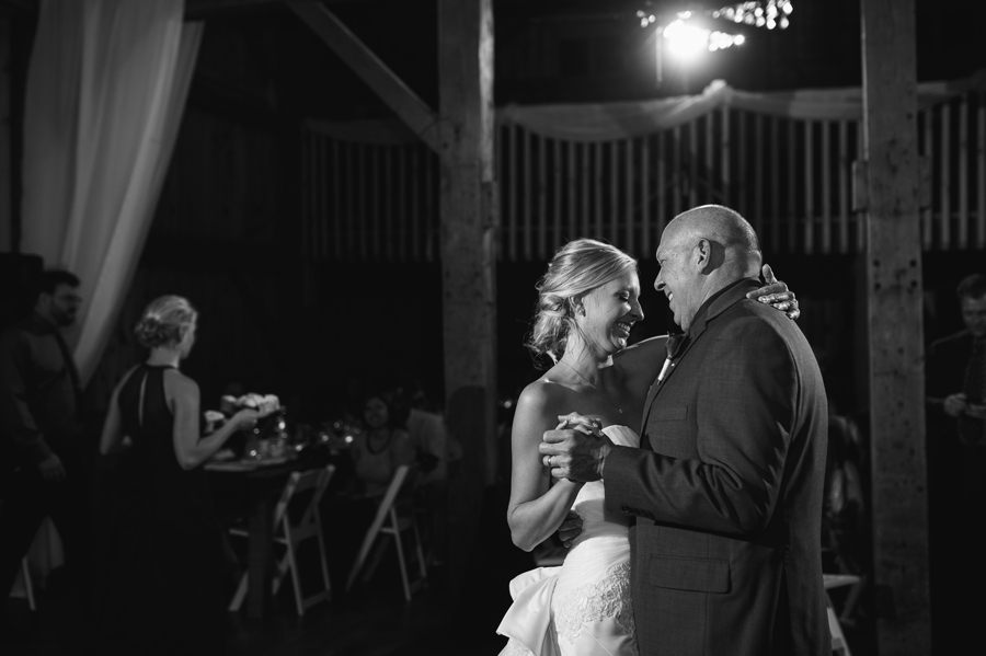 father daughter dance at a winery wedding