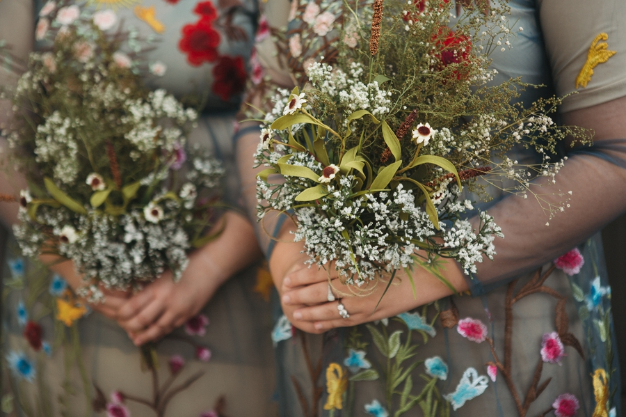 bridemaids dried flowers