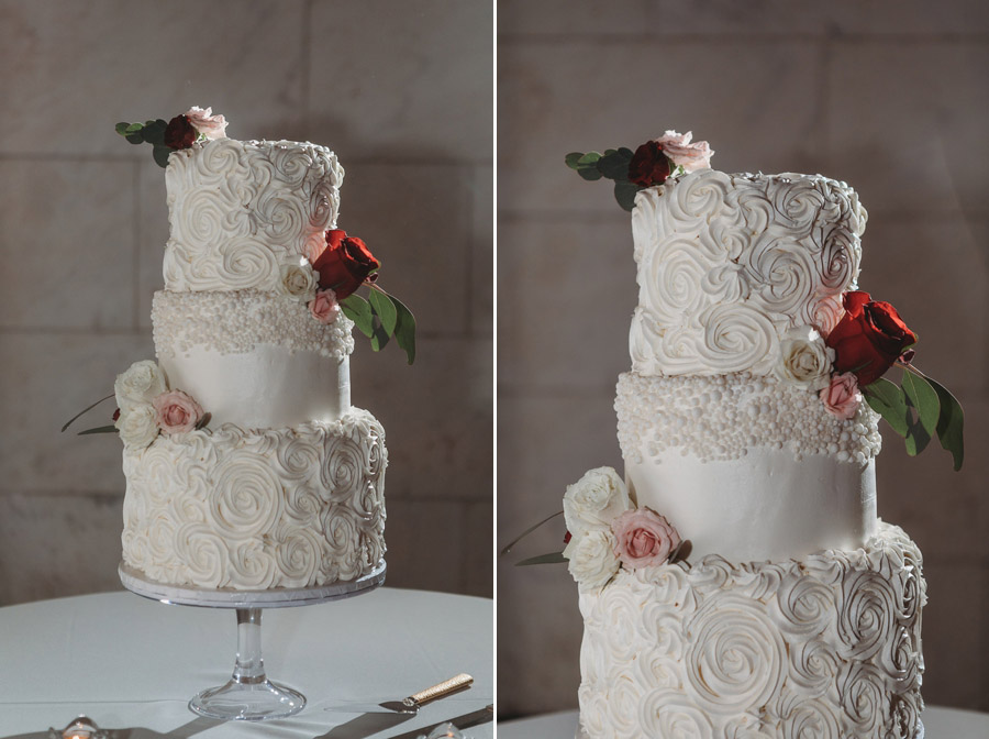 wedding cake at The Vault
