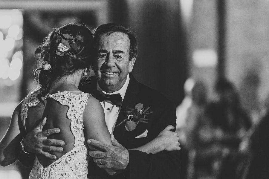 black and white father daughter dance photo