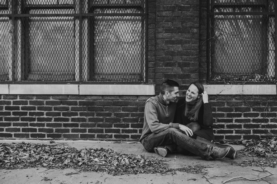 black and white photo of couple at Franklin Park Conservatory