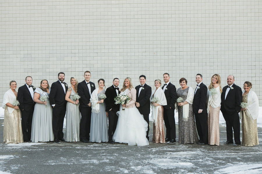 winter metallic wedding on new years at the westin