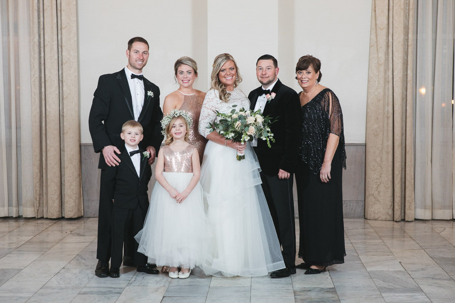 bride family photo