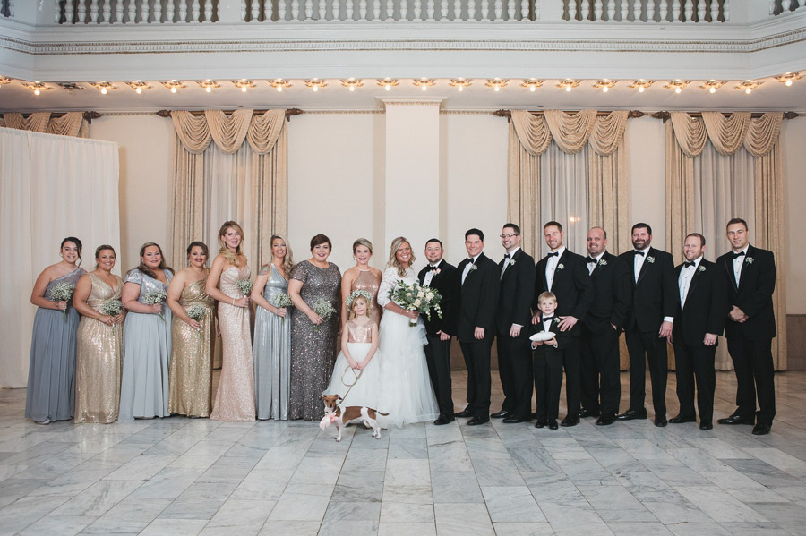 entire bridal party at the westin new years eve wedding
