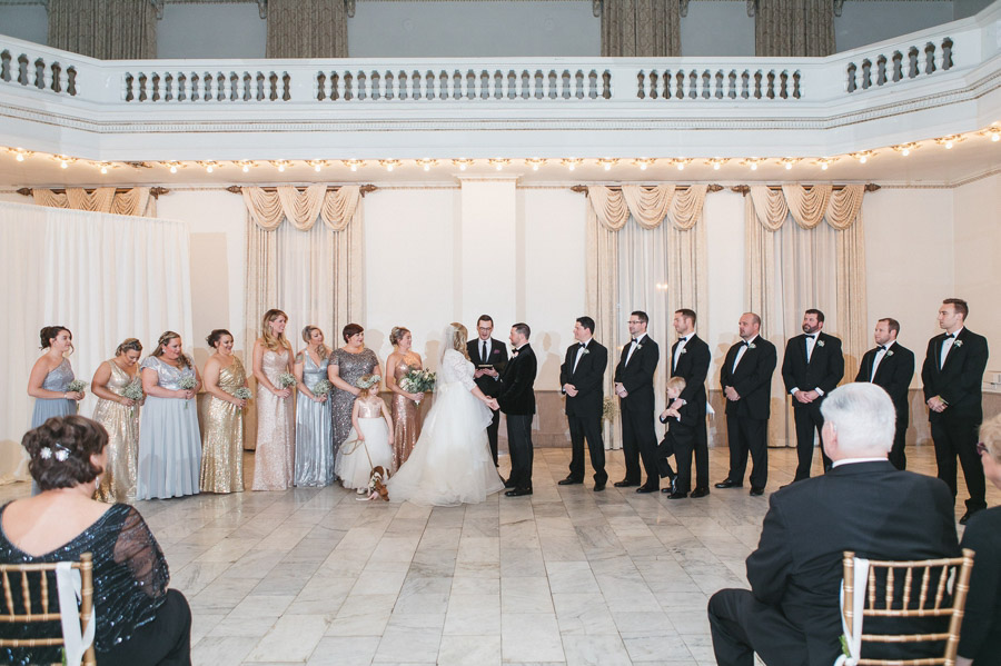 wide photo of ceremony inside the westin ballroom