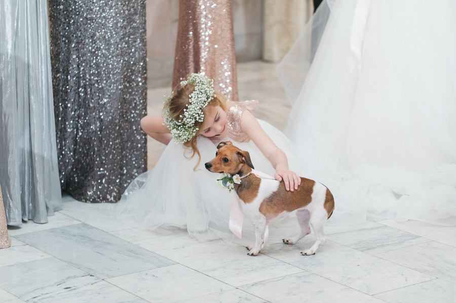 couples dog as ring bearer