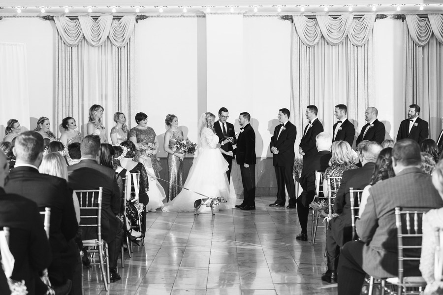 black and white photo of the westin ceremony