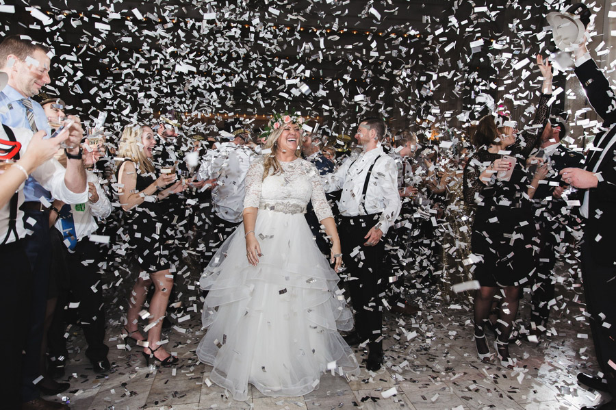 new year's eve wedding with confetti at the westin great southern columbus