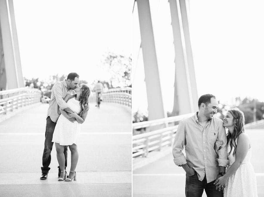 black and white photos of engaged couple in columbus ohio
