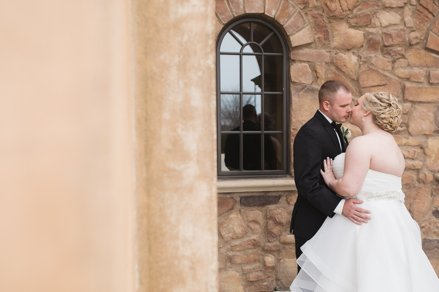 romantic photo of bride and groom at the club at corazon