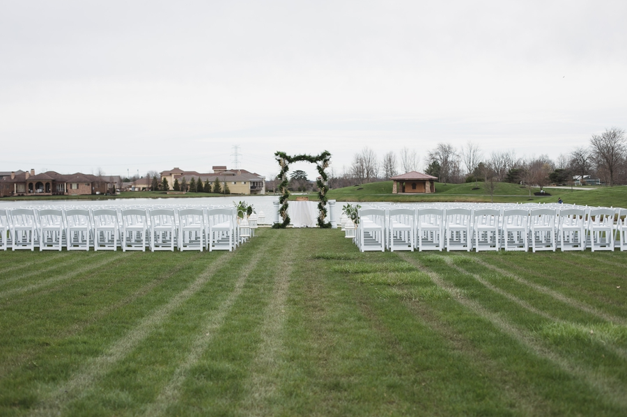 outdoor ceremony setup at the club at corazon