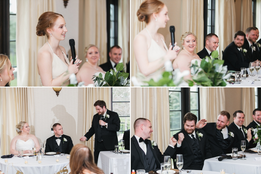 best man and maid of honor speeches at club at corazon wedding