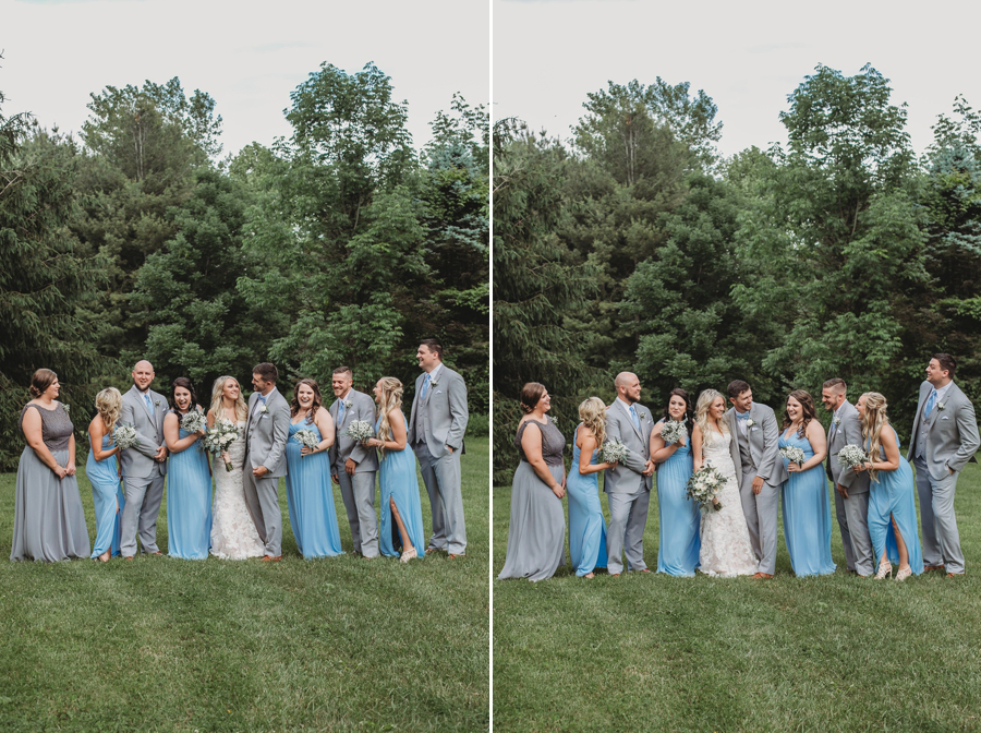 candid photos of wedding party laughing