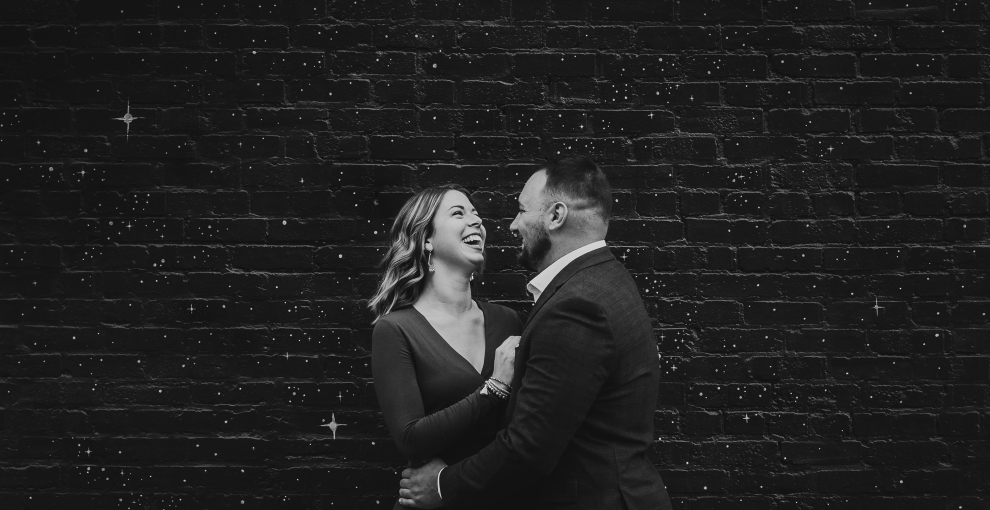 engaged couple in short north arts district in Columbus Ohio